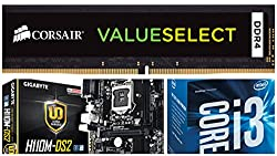 Intel Sixth Generation Core i3 6098P (3.6Ghz) Processor + Gigabyte H110M-DS2 DDR4 LGA1151 MotherBoard + 8GB DDR4 2133Mhz Memory - Entry Level Combo