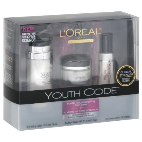 L'Oreal Paris L'Oreal Paris Youth Code Regenerating Skincare Kit (Day Lotion, Day/Night Cream, Eye Cream)