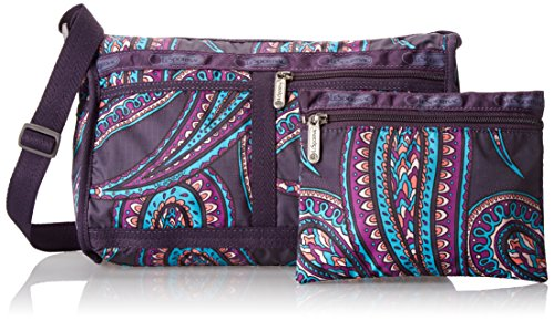 LeSportsac Deluxe Shoulder Satchel Handbag,Hope Paisley,One Size
