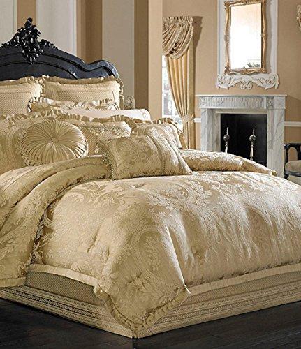 J Queen Napolean Gold 9 Piece Queen Comforter Ensemble (J Queen New York Pillows compare prices)