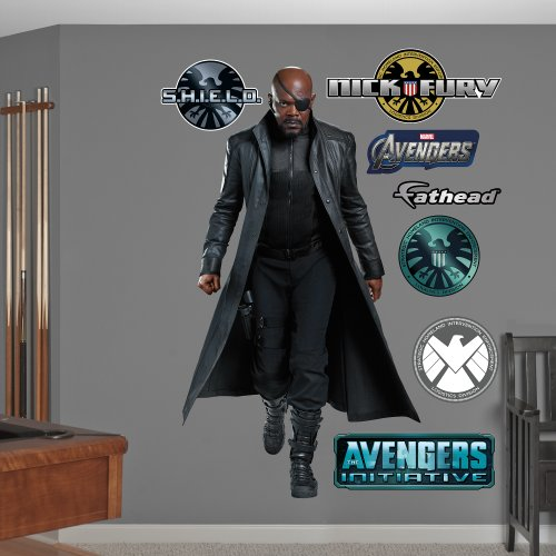 Fathead Nick Fury: Avengers Live Action Photo Graphic Wall Décor