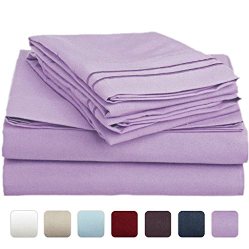 #1 Bed Sheet Set On Amazon - Super Silky Soft - Sale - Highest Quality 100% Brushed Microfiber 1800 Bedding Collections - Wrinkle, Fade, Stain Resistant - Hypoallergenic - Deep Pockets - Luxury Fitted & Flat Sheets, Pillowcases - Best For Bedroom, Guest R front-355645