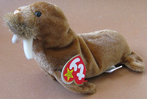 TY Beanie Babies Paul the Walrus Plush Toy Stuffed Animal ty beanie babies echo the dolphin plush toy stuffed animal