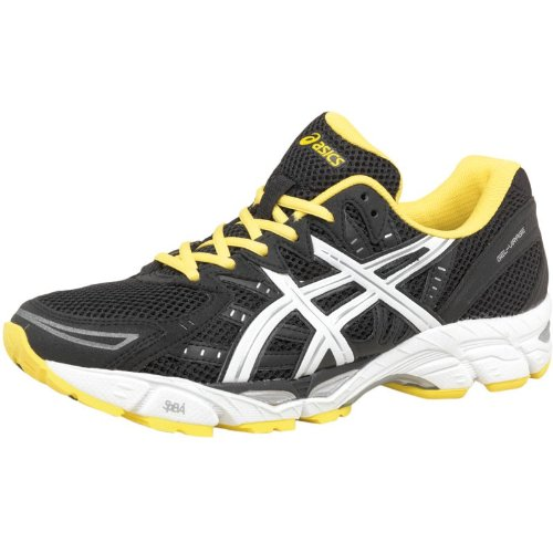 Asics Mens Gel Virage 6 Stability Running Shoes Black/White/Yellow