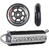 Rollerblade 76mm Inline Skate Wheel and Bearing 8-Pack Kit