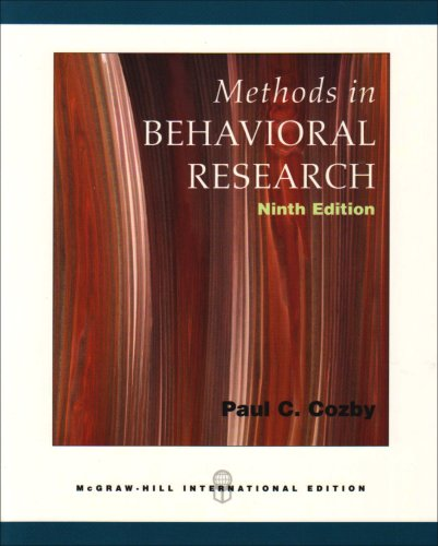 Methods in Behavioral Research: WITH Powerweb