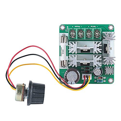 ELENKER 6V-90V 15A Pulse Width Modulator PWM DC Motor Speed Control Switch Controller 1000W MAX (Pwm Motor Switch compare prices)