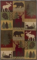 Hot Sale Rizzy Home CT2062 Country 8-Feet by 10-Feet Area Rug, Brown