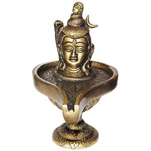 Shiva Metall Skulptur Messing Religiöse Symbole 12,70 cm x 8,89 cm x 15,24 cm