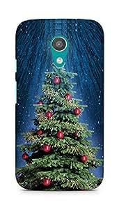 Amez designer printed 3d premium high quality back case cover for Motorola Moto G2 (Christmas Tree 2)