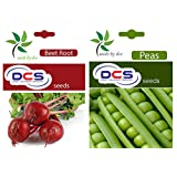 DCS Beetroot Seeds And Peas Seeds(Pack Of 2 Per Pack 50 Seeds)