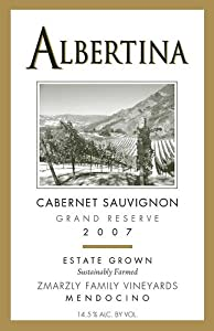 2007 Albertina Wine Cellars Grand Reserve Cabernet Sauvignon 750 mL
