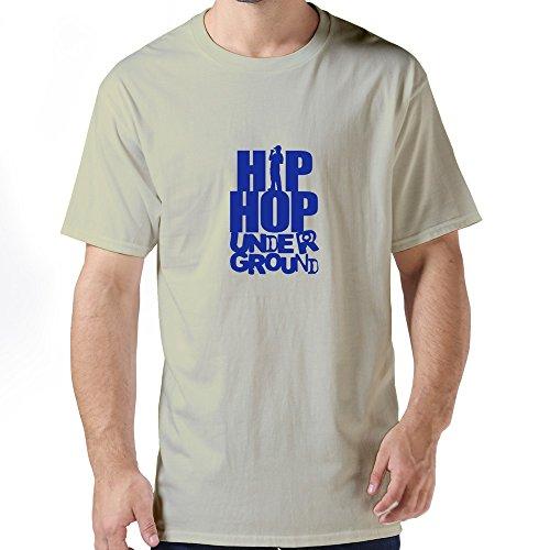 Men'S Hip Hop Underground Personalised Custom Large O-Neck Tee Shirt By Dingding