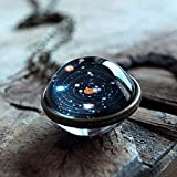 Gbell Clearance! Women Milky Way Necklace- Charm Women Girls Galaxy Starry Sky Gem Pendant Necklace Chain Jewelry Gifts for Party,Anniversary,Casual (Multicolor) (Color: Multicolor, Tamaño: Medium)