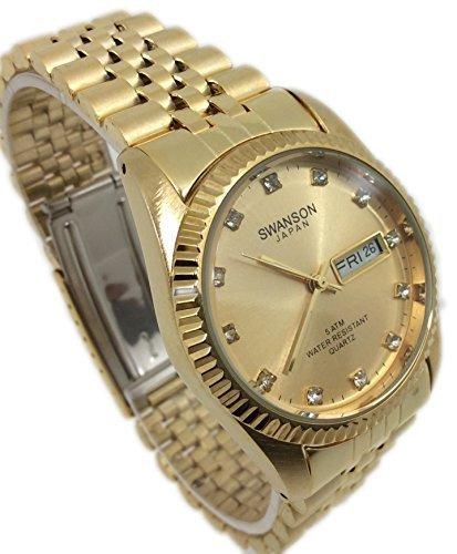 swanson-japan-watch-men-gold-tone-dateday-water-resistant