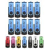 BESTRUNNER USB3.0 8GB 回転式USBメモリ ブルー 10個パック