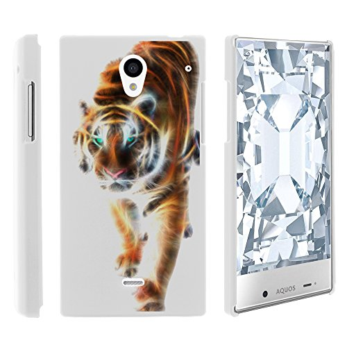AQUOS Crystal Case, Slim Fit Snap On Cover with Unique, Customized Design for Sharp AQUOS Crystal 306 SH (Sprint, Boost Mobile, Virgin Mobile) from MINITURTLE | Includes Clear Screen Protector and Stylus Pen - Blazing Tiger (Aqua Sharp Crystal compare prices)