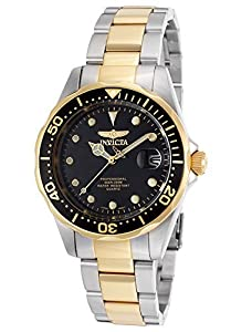 Invicta 17049 Men's Pro Diver Two-Tone Stainless Steel Black Dial Watch