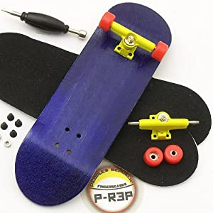 Peoples Republic Purple Complete Wooden Fingerboard w Nuts Trucks - Basic Bearing Wheels