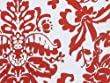 Red & White Damask PAISLEY FLOURISH Gift Wrapping Paper - 16 Foot Roll