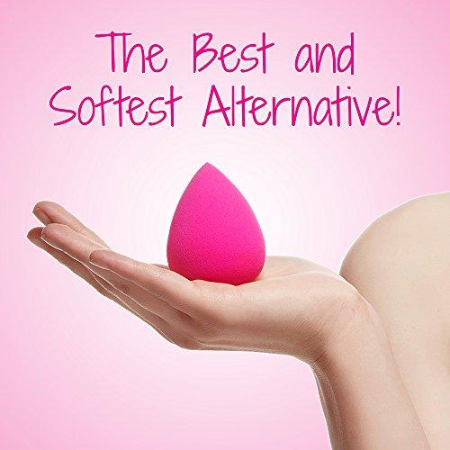 2 PC Jouvenet Makeup Sponges, 2 Latex-Free Vitamin-E Infused Beauty Sponge Blenders for Foundation Blending Liquid Cream Concealer Blush Cosmetics. Ebook Highlight & Contour
