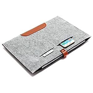"""Smart Slim Woolen Felt Carry Sleeve Case Cover Bag Pouch For iPad Pro 12.9"""" Inch - Gray"""