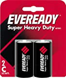 Eveready Heavy Duty 1235BP-2 C Batteries (2-Pack)