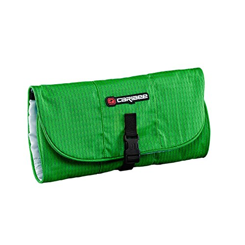 caribee-toiletry-wrap-wash-bag-hanging-style-green