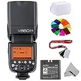 Fomito Godox Ving V860II-S 2.4G HSS 1/8000 TTL Li-on Battery V860II Camera Flash Speedlite for Sony A7 A7R A7S A7II A7RII A58 A99 A6000 A6300 Camera