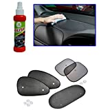 Combo - Auto Pearl - 120ml Car Polish Spray, Car Auto Window Side Chipkoo Sunshade Curtains Set Of 5Pcs
