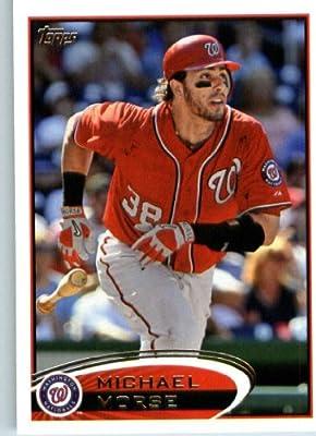 2012 Topps Baseball Card #165 Michael Morse - Washington Nationals - MLB Trading Card