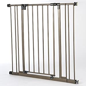 North States Industries Supergate Extra Tall Easy Close Metal Gate, Bronze