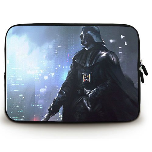 New Custom Star Wars Darth Vader Anakin Skywalker Waterproof Canvas Fabric 10 10.1 Inch Laptop Sleeve Bag Case Cover(Twin Sides)