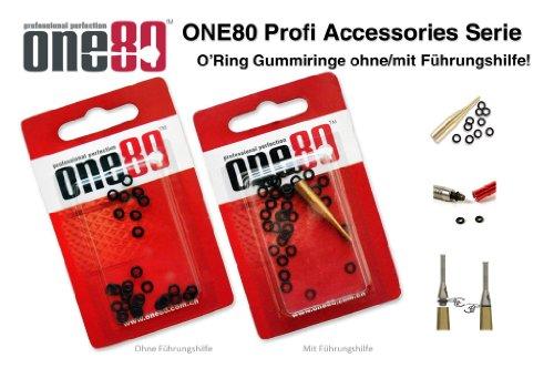 ONE80 Profi Dart Zubehör O-Ringe mit/ohne Führungshilfe - 25xO-Ringe ohne Führungshilfe