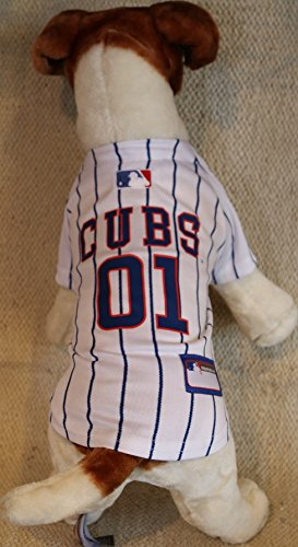 [CHICAGO CUBS ★ AUTHENTIC DOG JERSEY ★ OFFICIALLY LICENSED MLB ★ ALL SIZES (Small)] (Cubs Fan Costume)