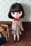 (ドーリア)Dollia ブライス 1/6ドール用 アウトフィット 学生 チェックスカート 学校 ネオブライス ドール 人形 (ブラウン)