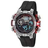 Armitron Men's 40/8251RED Black Digital Sport with Red Metalized Accents Watch