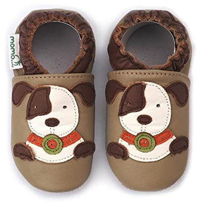 Amazon.com: Momo Baby Infant/Toddler Puppy Taupe Soft Sole Leather Shoes - 0-6 Months/1-2.5 M US