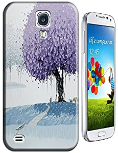 New High Quality Fashion Colorful Tree Abstract Oil Painting Design Phone Cases For Samsung Galaxy S4 i9500 No.3