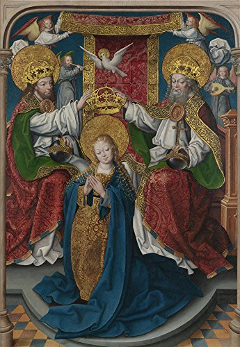 Oil Painting 'Master Of Cappenberg (Jan Baegert) The Coronation Of The Virgin', 12 x 17 inch / 30 x 44 cm , on High Definition HD canvas prints, gifts for Garage, Home Theater And Kitchen Decoration (Advanced Pants Hanger compare prices)
