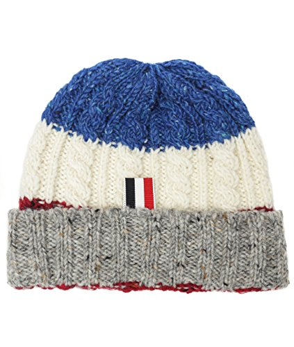 wiberlux-thom-browne-mens-flecked-cable-knit-beanie-one-size-white