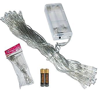 Serie 20 Luci Multi Colore LED Lampadine per Albero di Natale + 2 Batterie St...