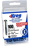 Kreg SML-C150B-100 Blue-Kote WR Pocket Screws - 1-1/2-Inch, 100 pack