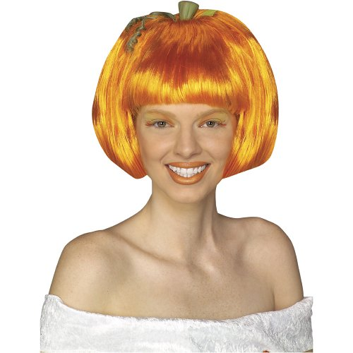 Rubie's Costume Pumpkin Spice Wig, Orange, One Size