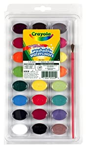 Crayola Washable Watercolors 24ct Pan w/brush