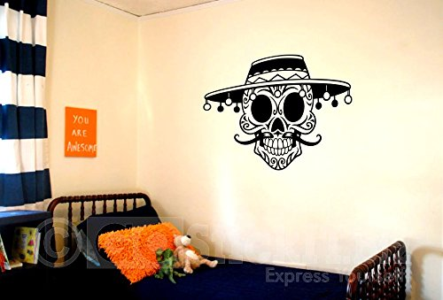GOStickIT- Sugar Skull 3 Calevera Day of the Dead Vinyl Wall Decal