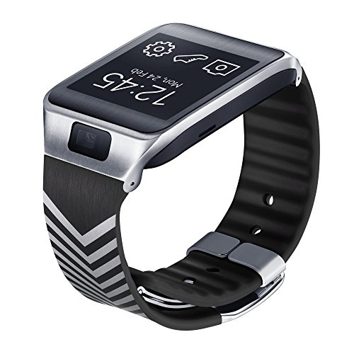 Samsung Galaxy Gear 2/Neo Designer Replacement Band By Nicholas Kirkwood - Retail Packaging - Black with White Pattern