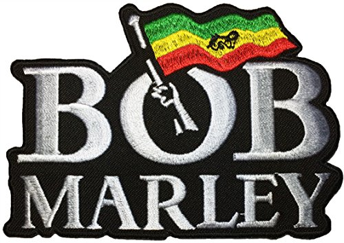BOB MARLEY MUSIC Guitarist Ska Rocksteady Jacket Vest shirt hat blanket backpack T shirt Patches Embroidered Appliques Symbol Badge Cloth Sign Costume Gift (No Sew Hockey Blanket compare prices)