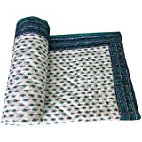Bagru Crafts Traditional Desgin Jaipuri Hand Block Print Double Bed Quilt, Jaipuri Razai