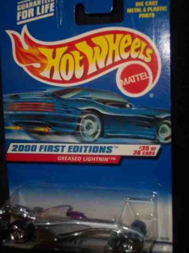 2000 First Editions -#35 Greased Lightning PR-5 Wheels #2000-95 Collectible Collector Car Mattel Hot Wheels - 1